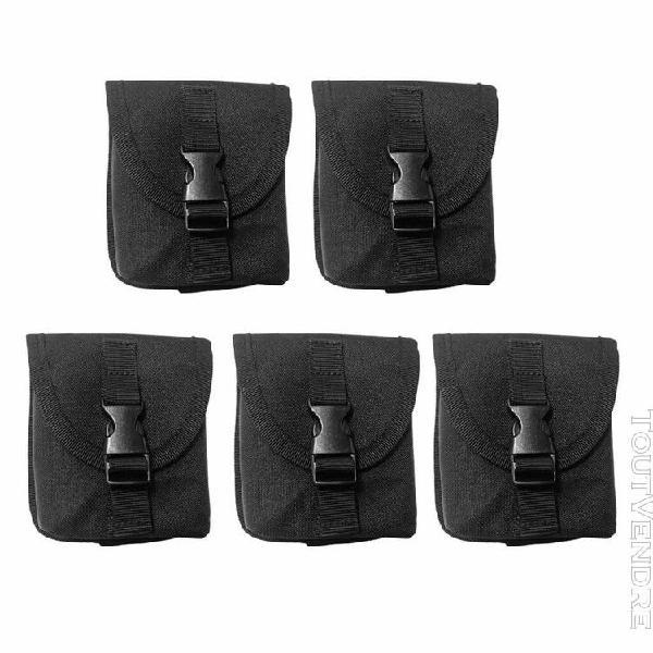 magideal 5pcs poche pour ceinture avec poids pour plongée