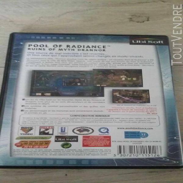 Pc pool of radiance complet version fr etat presque neuf les