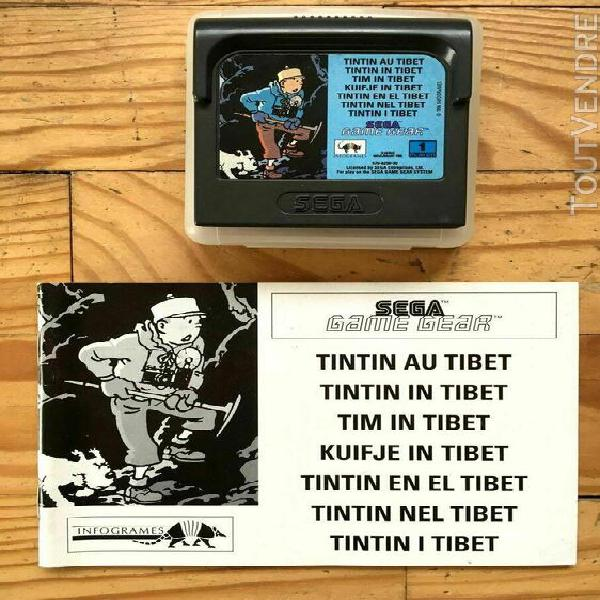 Tintin au tibet avec notice sega game gear pal euro booklet