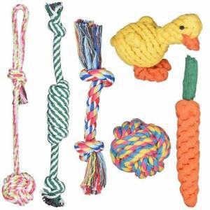 Achort 6 pcs ensemble de jouets pour chien, jouet de corde