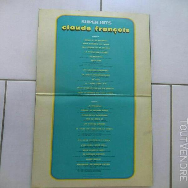 Claude francois super hits 2 disques vinyle 33 tours bon