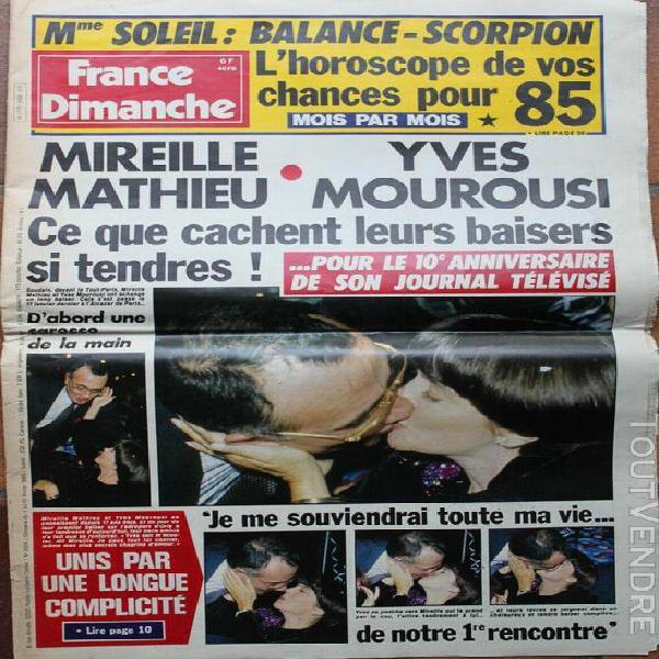 France dimanche n 2005 mireille mathieu bourvil lama diste