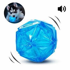 Pedomus jouet pour chien boule avec lumière led et squeaker