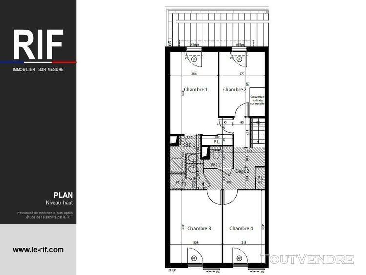 T5 duplex de 132 m² avec terrasse