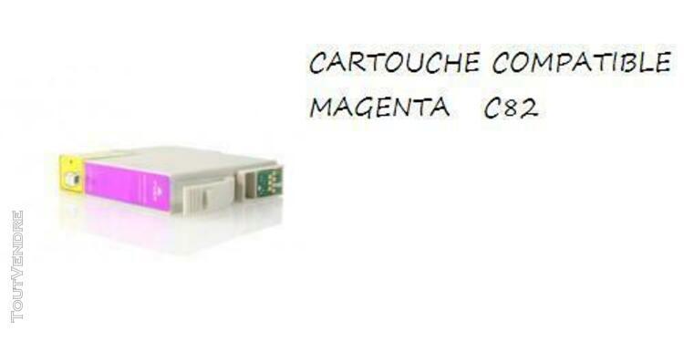 2 cartouches magenta compatible epson c82 cx5200 cx5400 ou r