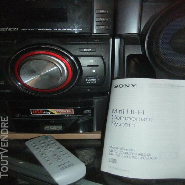 Chaîne micro hi fi mh c-ec 99 changeur 3 cd lecture mp 3