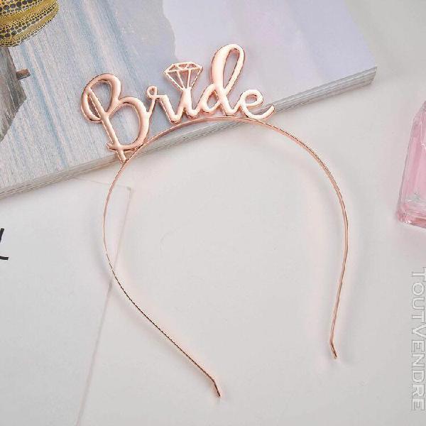 Cheveux de mariée simples crown diamond accessoires