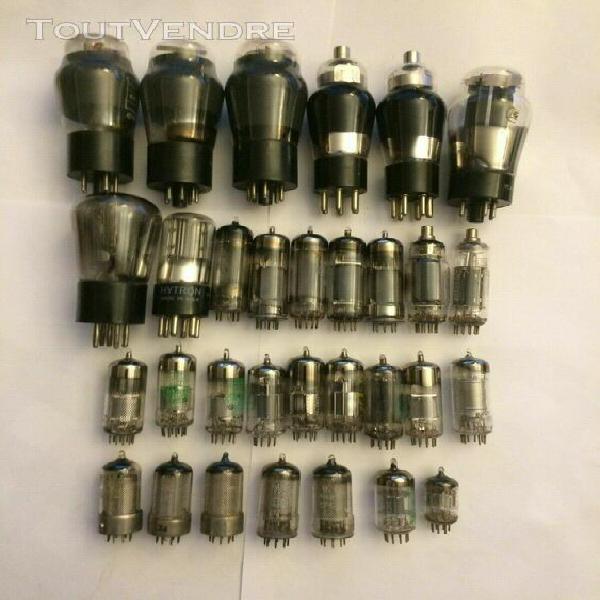 collection vintage de 31 tubes électroniques divers (voir l
