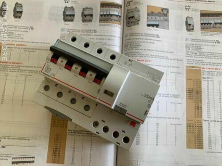 Disjoncteur différentiel tétrapolaire 4p courbe d 63a