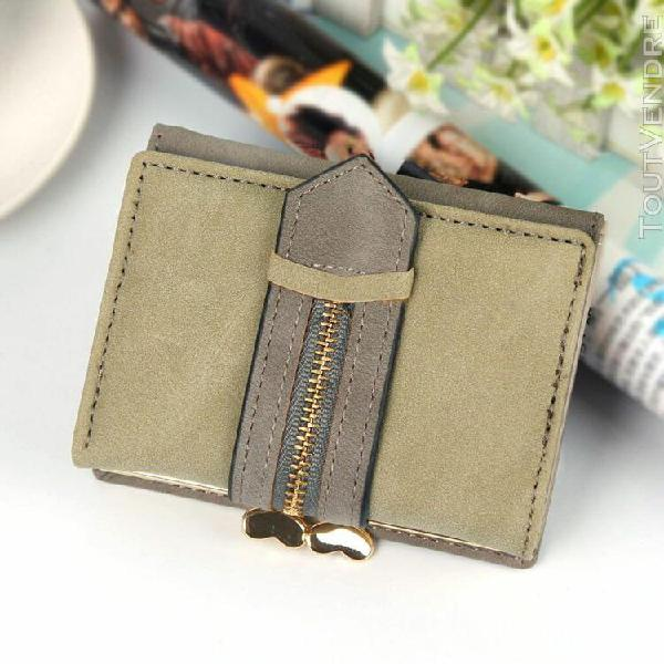 Femmes wallet court wallet petit givré tri-fold wallet