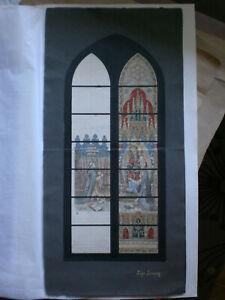Maquette vitrail vitraux peinture gouache lize-seraing