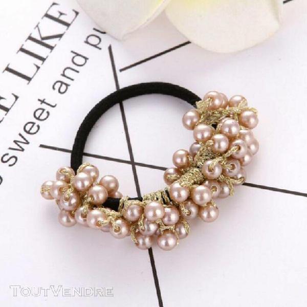 Mesdames accessoires cheveux perle perles tête rétro corde
