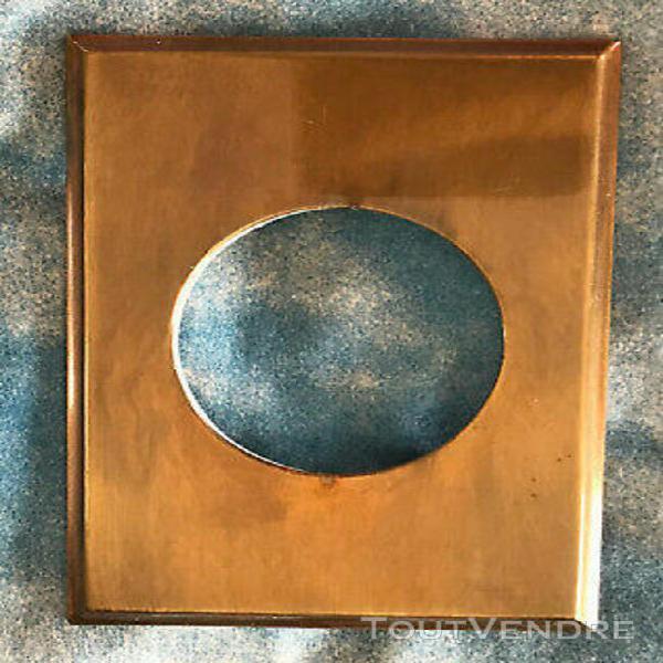 plaque métal laiton patiné,interrupteur,,prise arnould