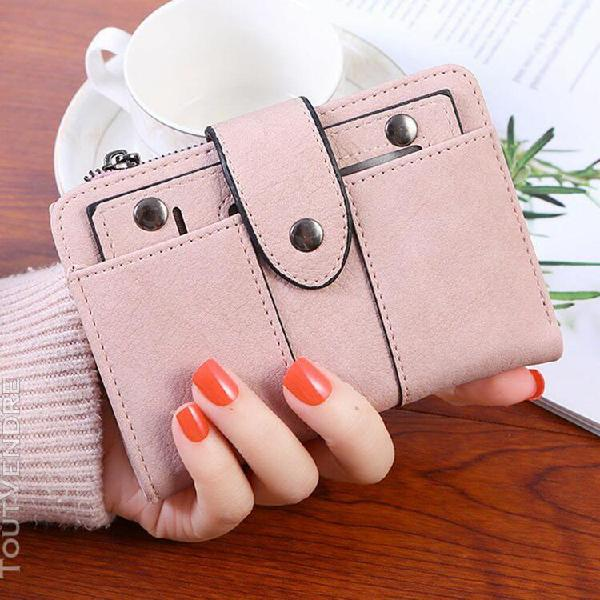 Portefeuille femme court petit frais portefeuille étudiant