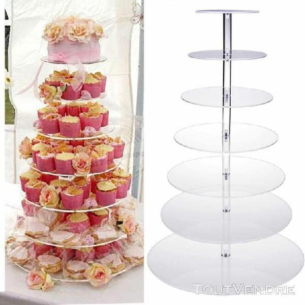 Présentoir de gâteau 7 niveau pour mariage