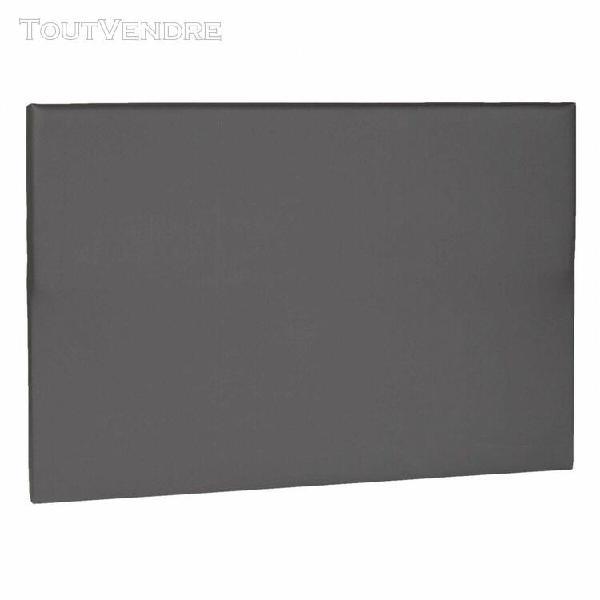 Tête de lit déco simili cuir gris foncé 140 - someo