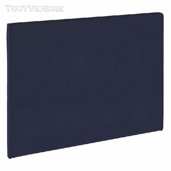 Tête de lit dosseret bleu nuit merinos melty hauteur 120
