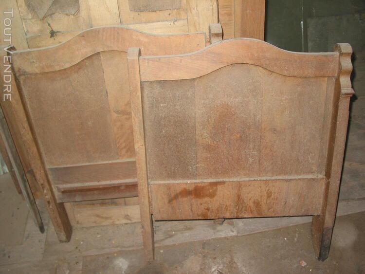 tête et pied de petit lit d'appoint canapé époque louis