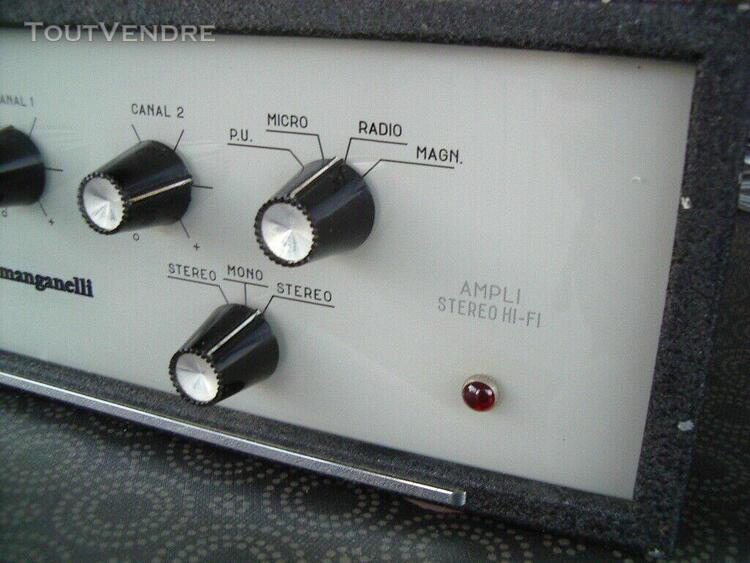 ampli preampli stereo manganelli vintage: ampli lampes san