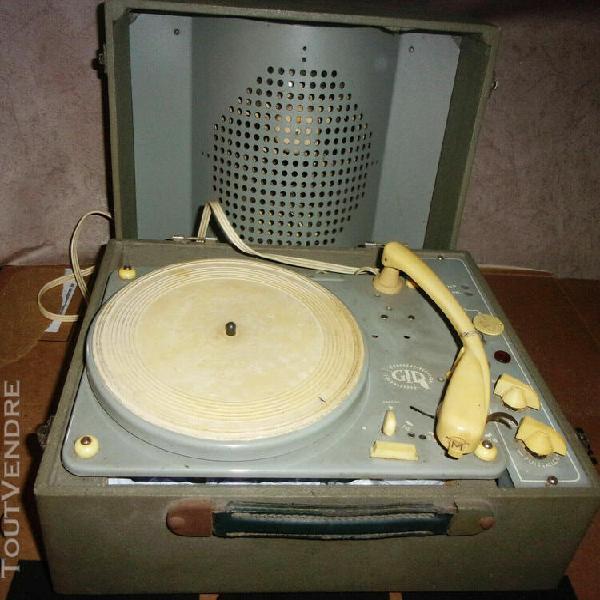ancienne platine électrophone tourne disque lampes vintage