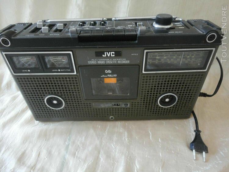 ancienne portable radio vintage jvc 9475 ls boombox radiore