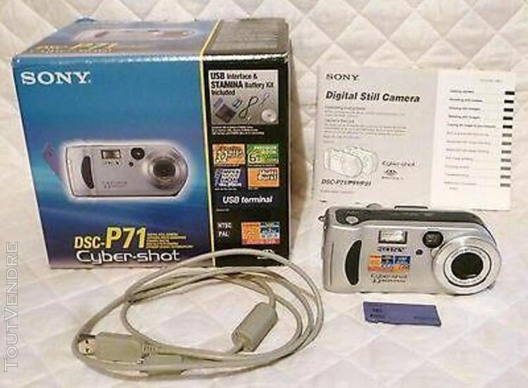Appareil photo compact numerique sony cyber shot dsc p71 zoo