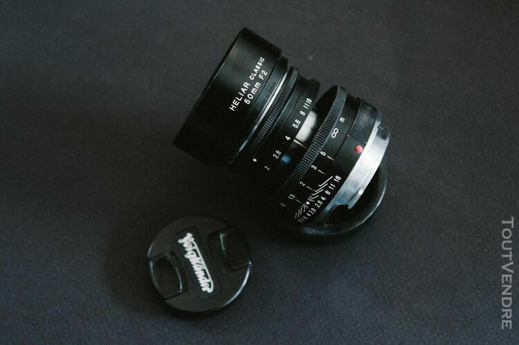 Beautiful voigtlander lens heliar classic 50mm f2 250 jahre