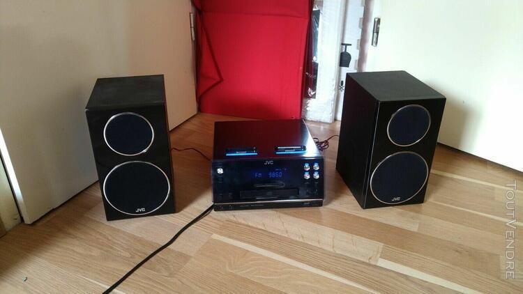 chaine hifi jvc double ipod lecteur cd et usb comme neuf