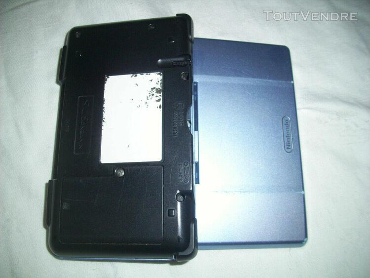 Console nintendo ds fat tank bleue + chargeur + housse + 2 j