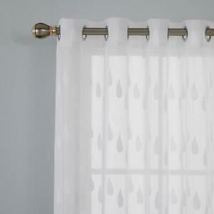 Deconovo lot de 2 rideau voile blanc transparent a oeillets