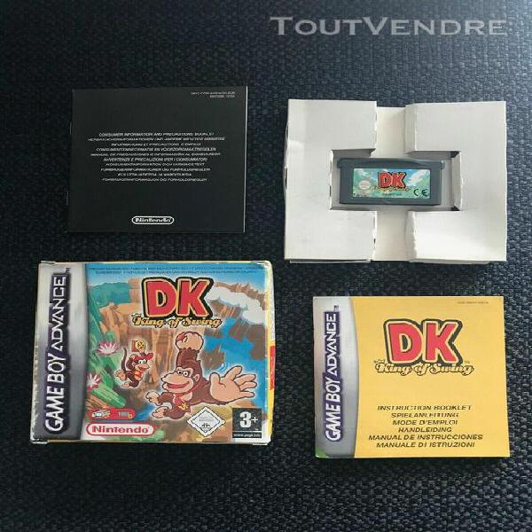 Dk donkey kong king of swing complet boite & notice sur gba