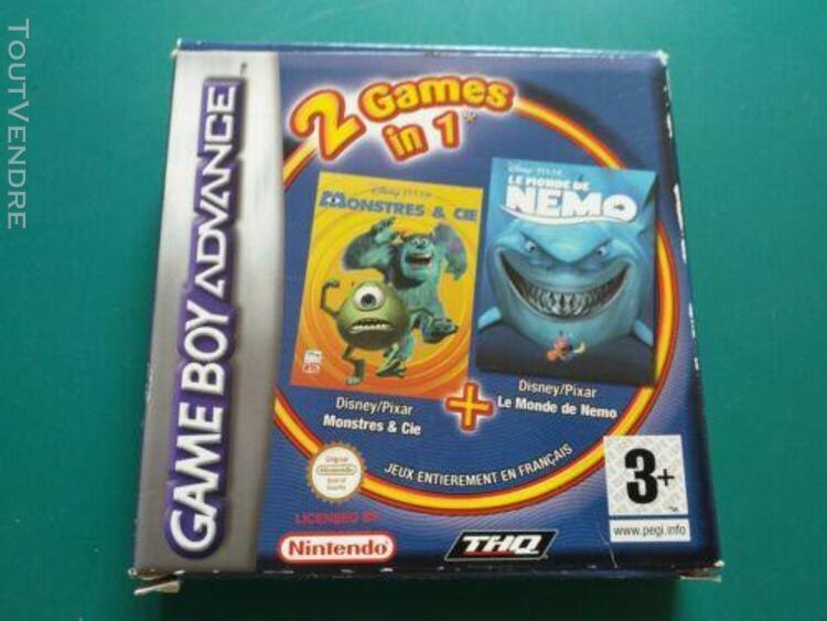 Jeux game boy advance 2 games in 1 (nemo/monstres & cie) com