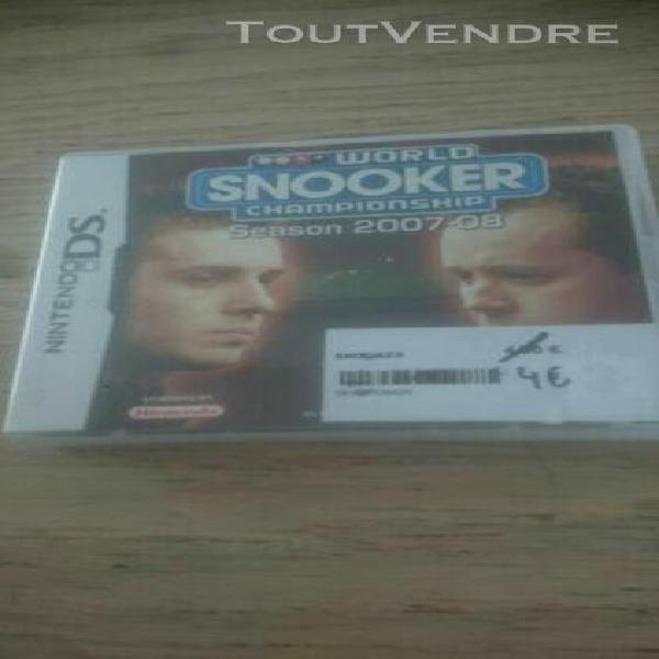 Jeux nintendo ds world snooker