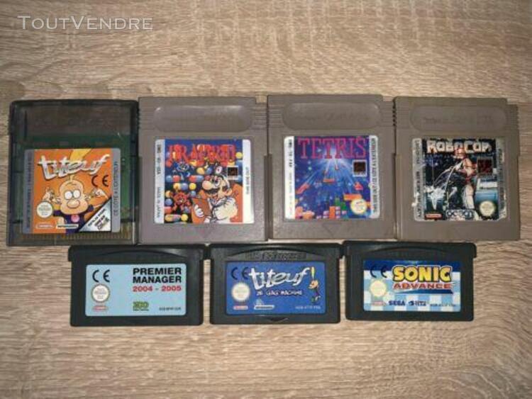 Lot de 7 jeux game boy, color et advance