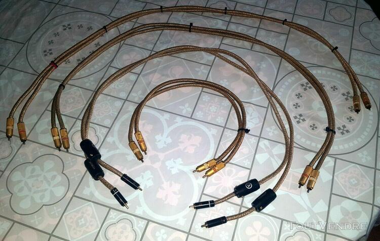 lot de câbles de modulation isoda. 3 paires de 1 mètre et