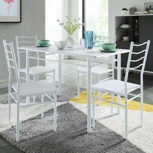 Nina ensemble table a manger de 4 a 6 personnes + 4 chaises
