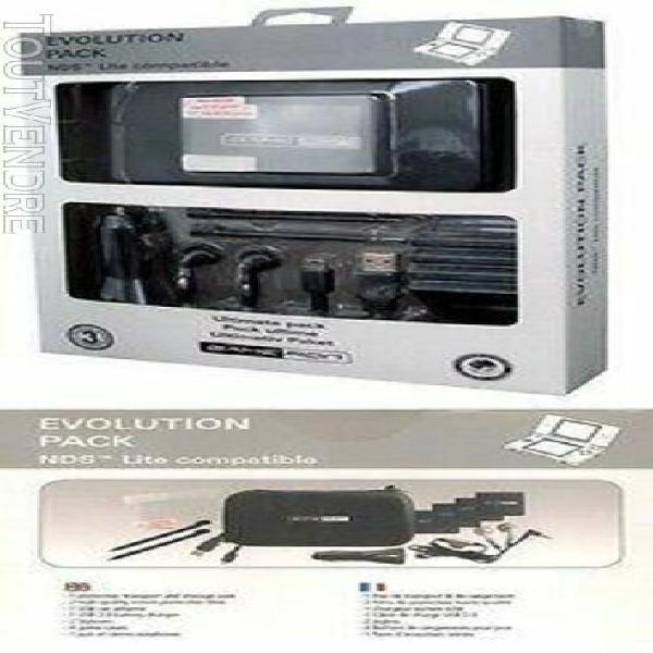 Pack evolution - 12 accessoires noir pour nitendo ds lite