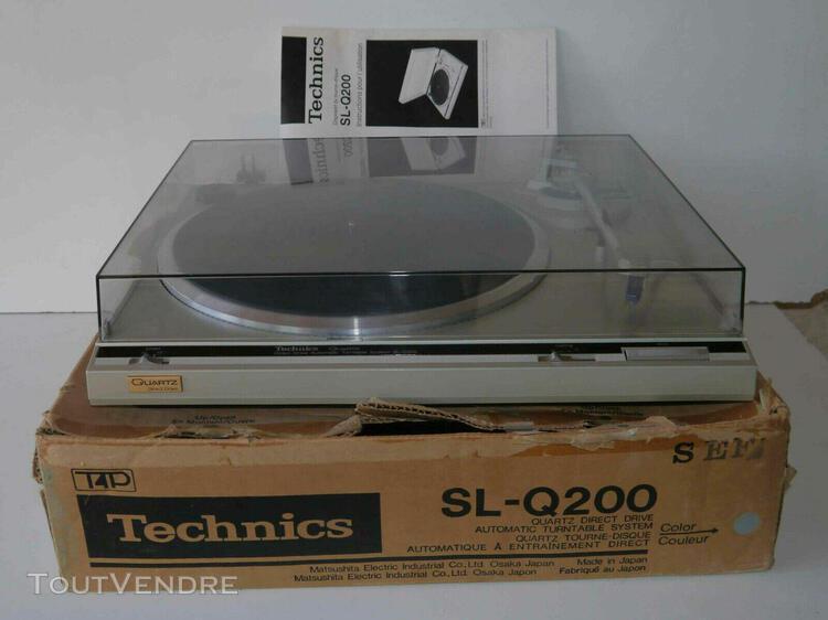 platine disques vinyles vintage technics sl-q200 entraîneme