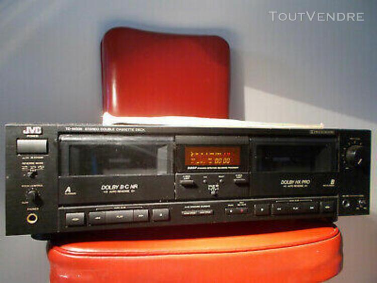 platine k7 / lecteur cassette jvc td-w306 /notice stéréo d