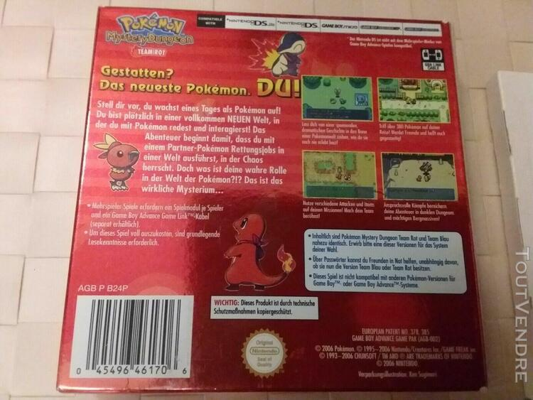 Pokemon donjon mystere mystery dongeon team rot red rouge ga
