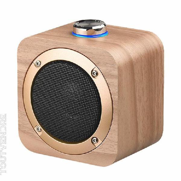 rechargeable sans fil en bois portable hifi blueteeth son st