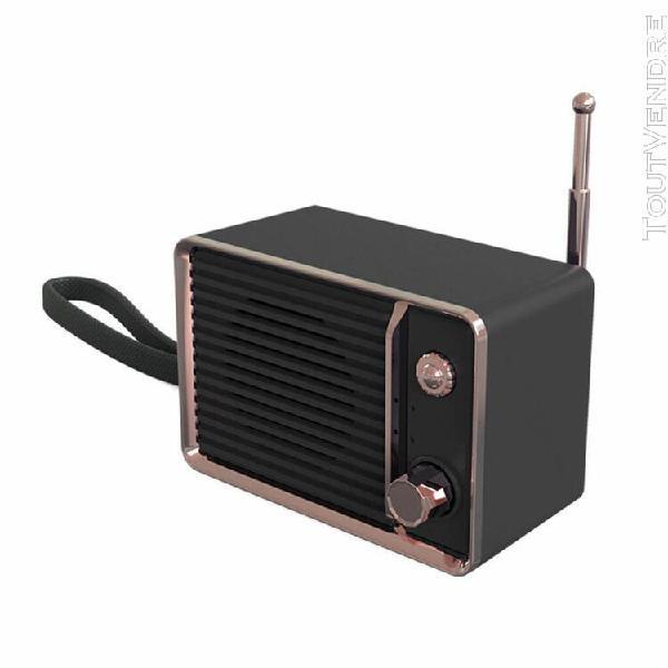 retro clock portable sans fil hifi blueteeth son stéréo