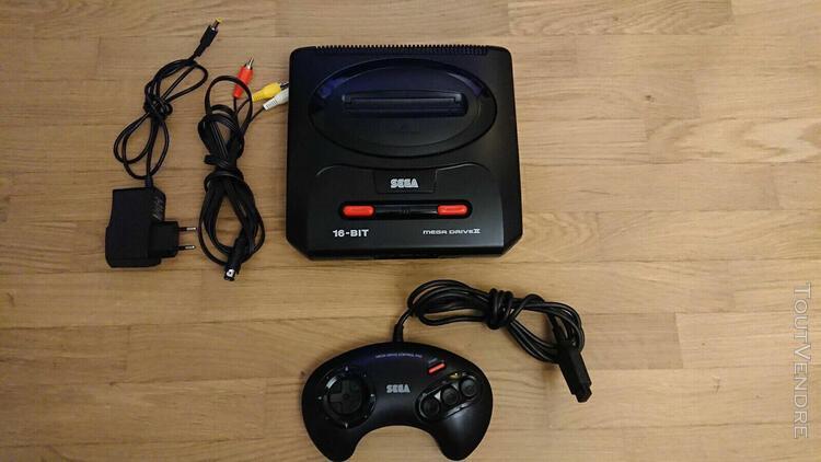 Sega mega drive 2 console de jeux - prête à jouer