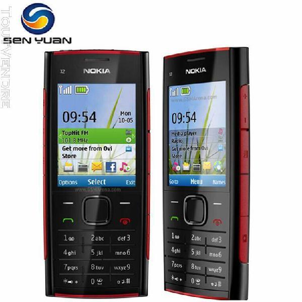 Téléphone portable d'origine nokia x2-00 débloqué 5.0mp