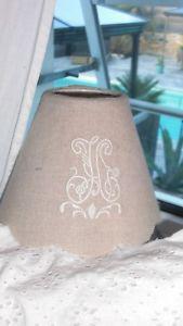 Unité ou paire abat jour comptoir de famille lin monogram