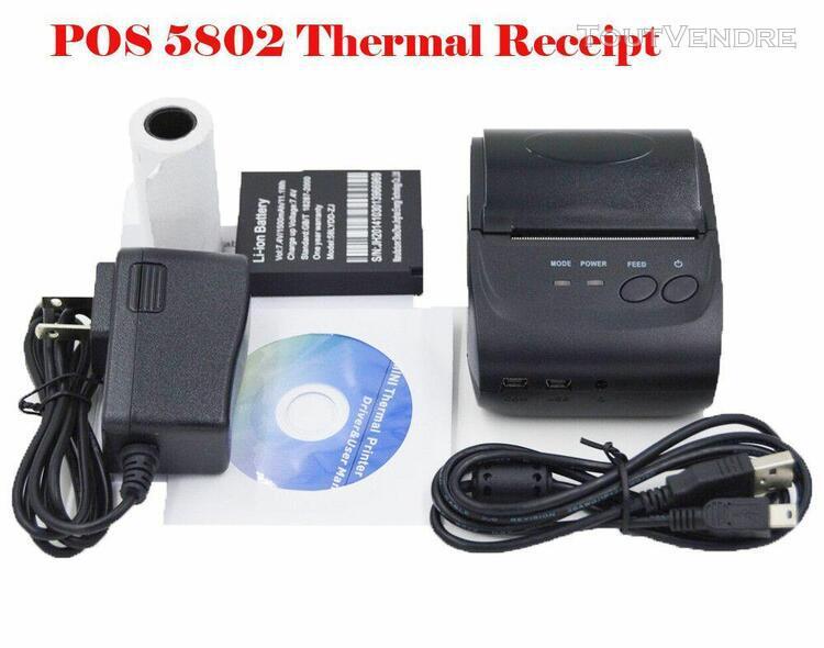 2019 usb mini 58mm bluetooth wireless mobile pos 5802