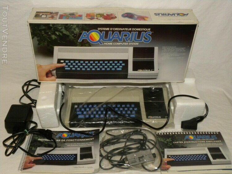 Ancien system informatique ordinateur aquarius mattel 1982 h