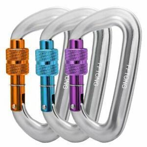 2win2buy D-Ring Mousqueton Verrouillage /à Vis Automatique Magnalium Equipement d/'Alpinisme Escalade Randonn/ée-Gris 30KN Mousqueton Verrouillage