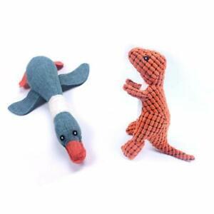 Huglove durable chien couineur jouets en peluche canard et