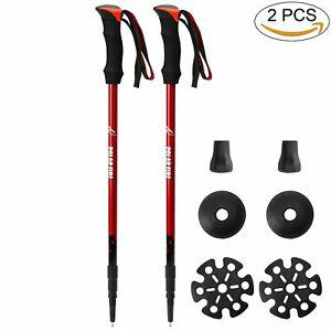 Polar fire 2-pack bâtons de trekking bâtons de marche pour
